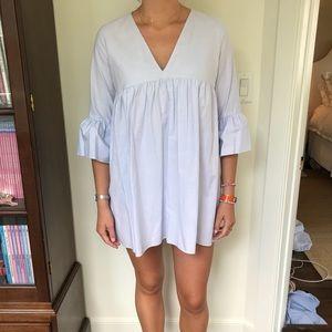 Zara Light Blue Jumpsuit Dress